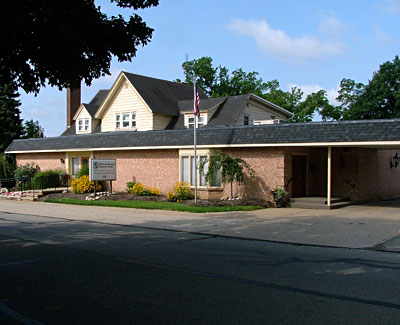 The funeral home exterior
