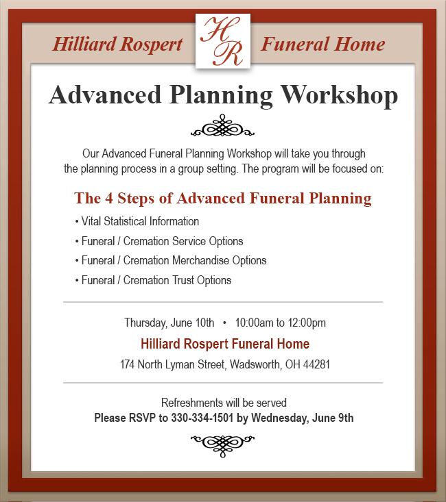 Advanced Planning Workshop Ad